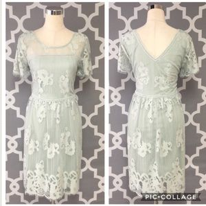 👗Maurice's EUC Lt Mint green Lace Dress Size 18